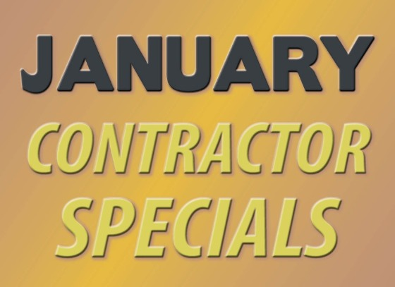 January Contractor Specials