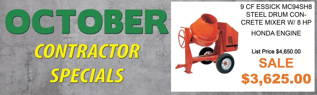 Contractor Monthly Specials